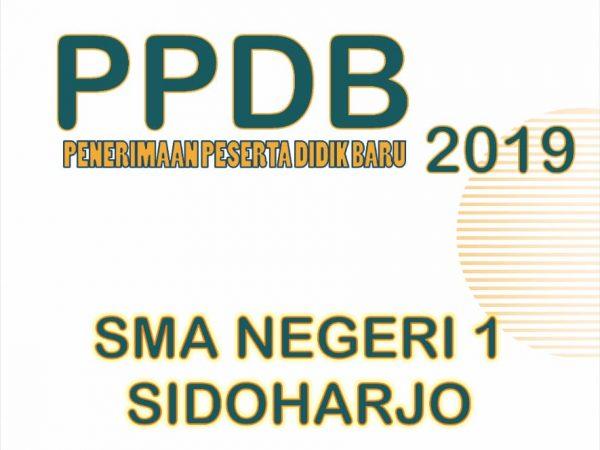 PPDB 2019 SMAN 1 SIDOHARJO Kab.Wonogiri